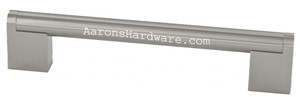 9668-96-BSN Door Pull In Brushed Satin Nickel and Hole Spacing of 96mm 128mm 160mm 192mm 256mm