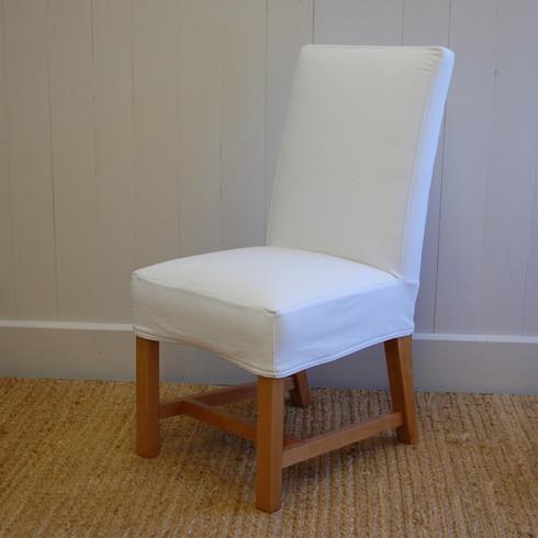 Modern Farmhouse Chair- White Denim
