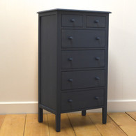 Beatrice Tall Dresser In Nantucket Blue