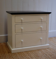Farmhouse Three-Drawer Nightstand