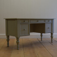 English Farmhouse Library Desk - Sage Gray