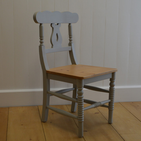 Cottage Chair - Gustavian Gray with English Pine Seat