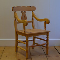 Cottage Chair with Arms - English Pine