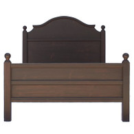 Grande French Farm Bed- Brown Walnut