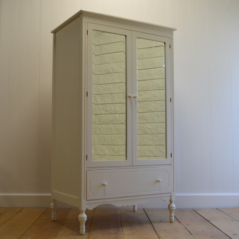 Superior Eloise Mirrored Armoire   White