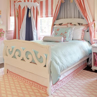 Scroll Bed - White