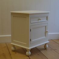 Farmhouse Bedside Table - White