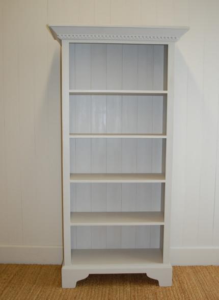 english tall bookcase gustavian gray