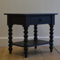 Petite Spindle Side Table - Black Walnut