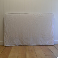 Simple Slip Headboard - White Poplin