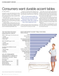 Home Accents Today's Consumer Views 2011: Accent Tables