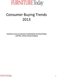 Consumer Buying Trends, 2013