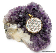 Colorful Crown Chakra Pendant with enamel crafts - New Design