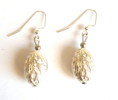 #A62 Interesting Etched Silver Earrings Price $25. All Earrings are available in Post, Wire, or Clip on