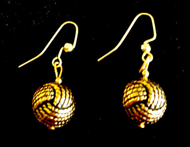 #A87 Stunning and Unique, lightweight Textured Twisted Ball Shape with an Antiqued Gold Patina $25. All Earrings are available in Post, Wire, or Clip on