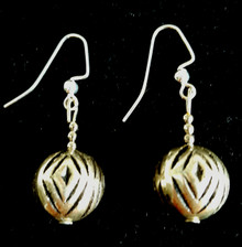#A88 Etched Silver Earrings with a distinct Pattern.  Perfect for those who like to wear unique jewelry to compliment an outfit.  Price $25. All Earrings are available in Post, Wire, or Clip on