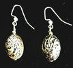 #A92 Unusual Highly Textured Designer Earrings with an Antiqued  Patina $25. All Earrings are available in Post, Wire, or Clip on