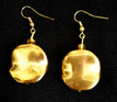 #A38 Gold Earrings $25. Available in wire, post or clip on