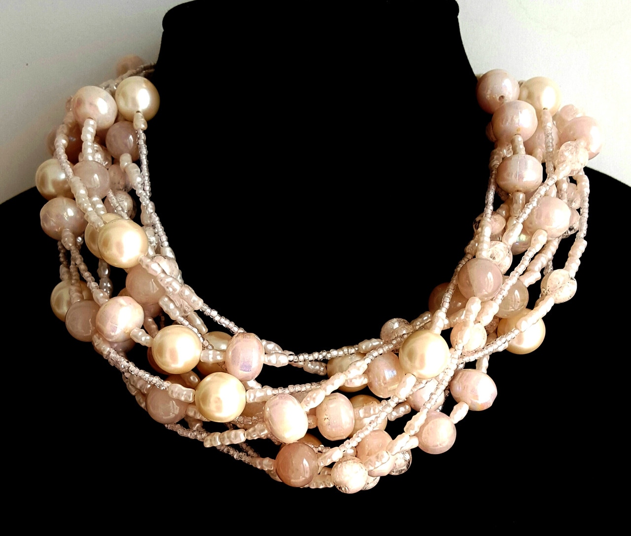 beads jewelry faux vintage pearl haskell miriam pearls dangle cream white