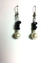 #A24  To Match Pearl and Onyx Earrings $25. Available in Post, Wire or Clip On