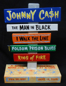 JOHNNY CASH SIGNPOST BY GEORGE BORUM