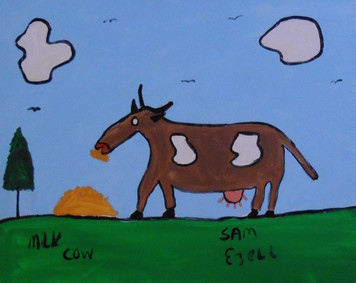 MILK COW PAINTING by SAM EZELL