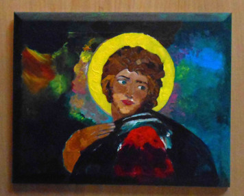 Raw Art Religious Painting by Chase Alward  -  2004