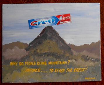Mountain climbing Crest Toothpaste