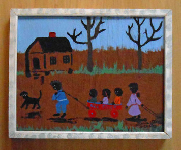 Red Flyer Wagon by Florida Minister Folk Artist Floria Yancey