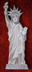 Wood STATUE of LIBERTY by George Borum