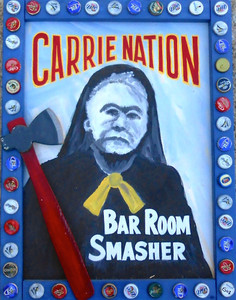 CARRIE BATION - Bar Room Smasher - Beer cap trim - by George Borum