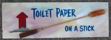 TOILET PAPER on a Stick for your Outhouse by Poor Ol George