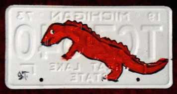 DRAGON License Plate by John Taylor