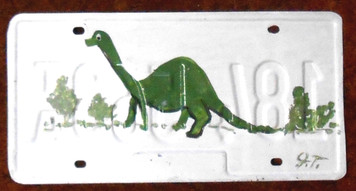 DINOSAUR License Plate By John Taylor