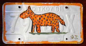 LEOPARD License Plate by John Taylor