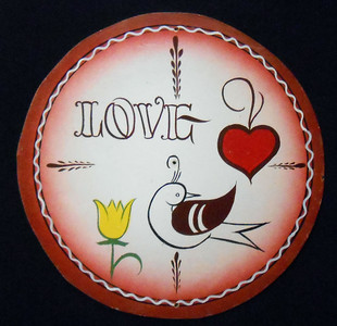LOVE BIRD PA DUTCH style HEX SIGN by Geo G Borum
