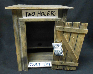 Krazy 2-Holer Outhouse Model  by Geo. G. Borum