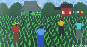 TOBACCO CROPPING Acrylic Painting by Squeakie