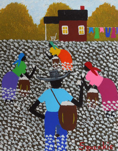 COTTON PICKING Acrylic Painting by Squeakie