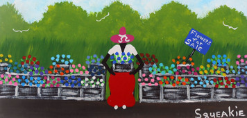FLOWER LADY Painting by Squeakie