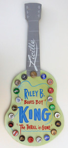B B KING (Blues Boy) Bottle Cap Guitar by George Borum