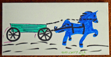 RUN AWAY HORSE by Pops Casey