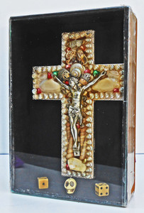 HAVANA QUEENS CIGAR BOX with CRUCIFIX by Pops Casey