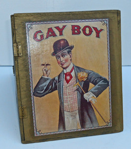 GAY BOY - BLACK WATCH CIGAR BOX - TRIANGLE SHAPE by Pops Casey