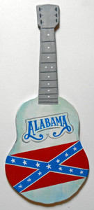 ALABAMA BAND CUT-OUT WOOD GUITAR by George Borum