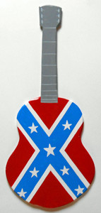 REBEL FLAG GUITAR Wooden Cutout Guitar by George Borum
