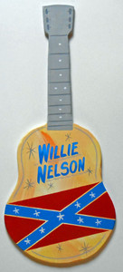 WILLIE NELSON GUITAR with REBEL FLAG  by George Borum