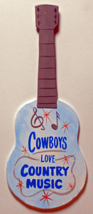 COWBOYS LOVE COUNTRY MUSIC GUITAR by George Borum