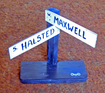 FAMED MUSIC STREET - MAXWELL ST & HALSTED ST  Signpost by Otto