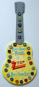 Z Z TOP GUITAR - Bottle Cap Trimmed by George Borum